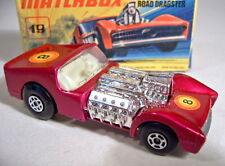 Matchbox SF Nr.19B Road Dragster lilametallic top in Box
