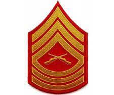 "(00) USMC MASTER SERGEANT CHEVRON 3"" x 4.7"" iron on patch (5815) Military"