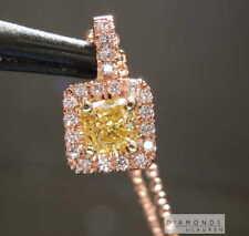 .49ct Yellow VVS2 Radiant Cut Diamond Pendant R6587 Diamonds by Lauren