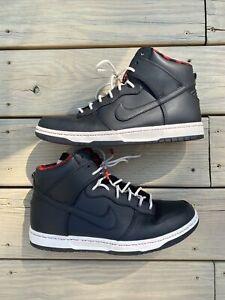 "Nike Dunk High Ultra Size 9.5 Waterproof Black/Red ""String"" Rainjacket Use"