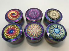2 Inches 4 Piece Metal Dry Herbal Herb Spice Tobacco Grinder Crusher Rainbow