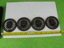 vintage gauge 1 locomotive wheels x4 model railway &steam toys 1418