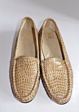 SAS Tripad Simplify Caramel Croc Pattern Women's Slip On Loafer Shoes Size 8.5N