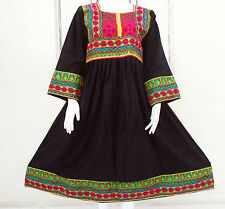 Kuchi Afgano Banjara Tribal Boho Hippie Estilo Nuevo Étnico Vestido ND-157