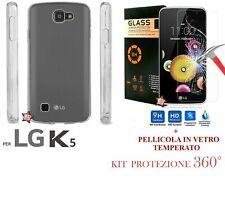 COVER TRASPARENTE + PELLICOLA VETRO TEMPERATO Per LG K5 2016 X220DS Custodia LCD