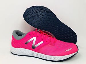 New Balance Kid's Zante V3 Running Shoe, Pink/Grey, 6 M US Big Kid