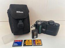 Nikon COOLPIX 4500 4.0MP Digital Camera, 2 Batteries, 3 Cards, And Case