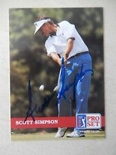 Scott Simpson Autographed 1992 Pro Set Golf Card