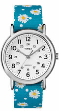 "Timex TW2R24000, Women's ""Weekender"" Floral Fabric Watch, Indiglo"