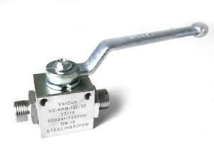 2/2 Wege Hydraulik Hochdruck Kugelhahn leichte Baureihe alle Größen Absperrhahn