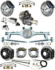 NEW SUSPENSION & WILWOOD BRAKE SET,CURRIE REAR END,POSI-TRAC GEAR,78-88 GM,BLK,D