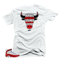 Shirt to Match Jordan 9 Gym Red Sneakers Tees-Heroes White
