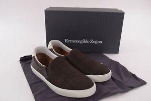 Ermenegildo Zegna NWB Casual Shoes Espadrilles In Brown Leather 9.5 D US $695