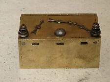 Rare cast brass strong box money box 17th - 18th century