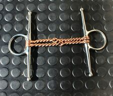 """28-107 new 5"""" premium stainless double twisted wire full cheek copper mouth"""
