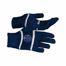Horze Kids Childs Red or Blue Pony Horse Motif Riding Rubber Stubs Pimple Gloves