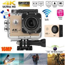 4K WiFi Caméra d'action 1080P 16MP 170° Sports 30m étanche DV Caméra Pour GOPRO