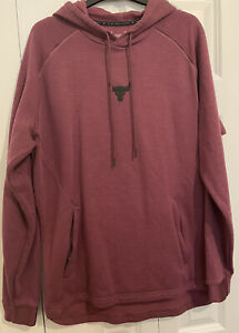 Under Armour Project Rock Charged Cotton Fleece Hoodie - Size Medium