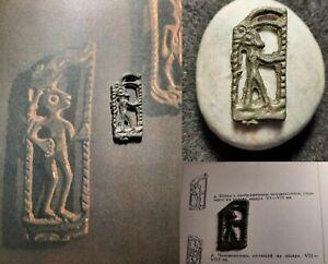 Medieval pagan idol. Horned God - Cernunnos (8th-10th century)