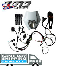 Enduro Motorcycle Complete Light Kit With Indicators Loom Kick & Electric Start