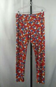 Lularoe Disney Tall & Curvy NWOT Red Donald Duck Leggings