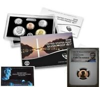 "2019 SILVER PROOF SET & FIRST ""W"" MINT REVERSE PROOF CENT, NGC REVERSE PF70RD"