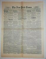 N862 La Une Du Journal The New York times 24 August 1926 republican chiefs
