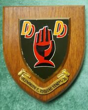 Ind Coope Double Diamond Oak Back Plaque Shield Crest