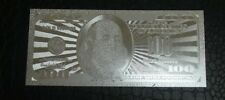 Uncirculated 100 Silver dollar USA bill with holder great rare collectible gift