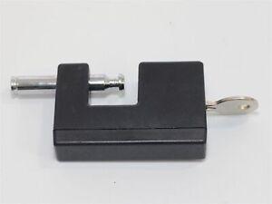 Heavy duty monochrome padlock & warranty