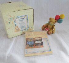 "Enesco Cherished Teddies Bear "" A Berry Happy Wishes"" 1996- 215864"