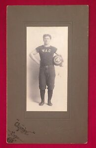 Antique Circa 1900 Madison Wisconsin Basketball Player Cabinet Photo Early Old