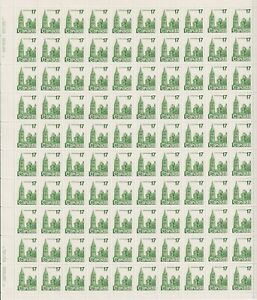 1979 Canada - Houses Of Parliament Stamp Sheet - 100 x 17 Cent Stamps