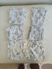 2 x Wilson And Frenchy Organic Cotton Pyjama Sets Size 7