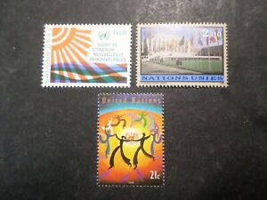 United Nations, Pack 3 Stamps New, MNH