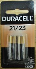 Pack of 2 Duracell MN21 12V Alkaline A23 Batteries 8LR50/A23/MN21 Dated Mar-2022