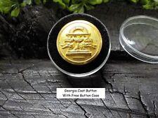 Old Rare Vintage Antique War Relic Georgia State Seal Coat Button