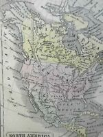North America United States Canada Texas Republic c. 1855 Boynton miniature map