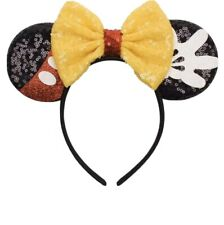 Minnie Mouse-Mickey Mouse ears headband- Disneyland- Disney World