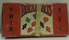 Rare Vintage Selchow & Righter Bakelite Royal Jacks Game Twin Set