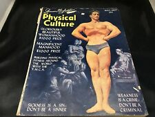 MAGAZINE PHYSICAL CULTURE RARE 1947 ISSUE PHYSICAL MAN CULTURE MAGAZINE VINTAGE