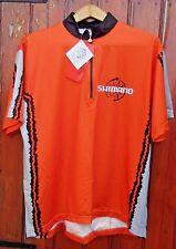 SHIMANO Ciclismo Jersey 1 zip tasca posteriore RARO design unico RP £ 49.95 MADE ITALY