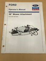 NEW HOLLAND  Ford 38 Inch Mower Attach for 12.5 OPERATORS MANUAL Owners Book