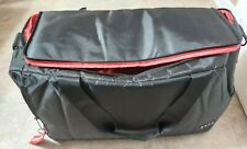 SNEAKER BAG Premium Travel & Gym Duffle with 3 Dividers Black/Red SNKR Brand