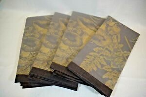 Williams Sonoma Set of 4 Cloth NAPKINS Forest Jacquard  NEW  (v0221)