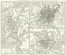 RUSSIA BELARUS. Bords de la Berezina, Moscou Moscow, Smolensk 1859 old map
