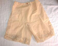NOS Vintage Panties Long Leg Girdle Tummy Control top Nude Sz XL