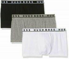 Hugo Boss Men's 3 Pack Underwear Sexy Premium Cotton Stretch Boxer Briefs Trunks