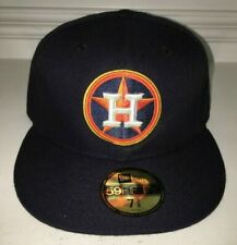 NWT New Era 59FIFTY MLB Houston Astros Cap Hat 7 3/8 POLY USA CUSTOM STAR CIRCLE