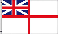 3x5 UK British Historical Naval Navy Ensign White Squadron Flag 3'x5' Banner #2